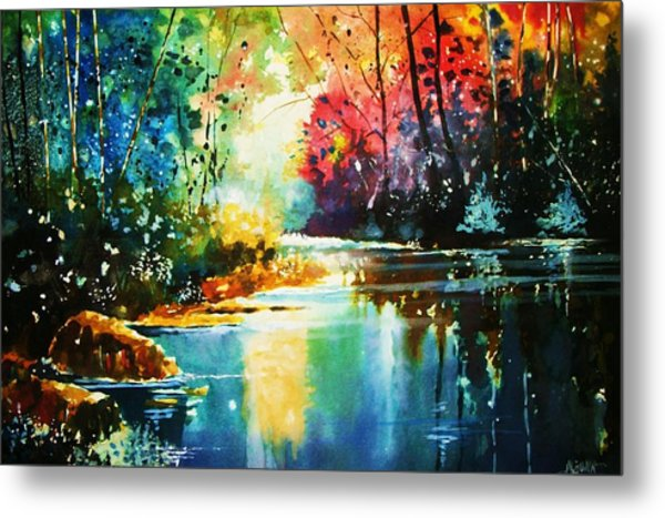 A Glow In The Forest Metal Print