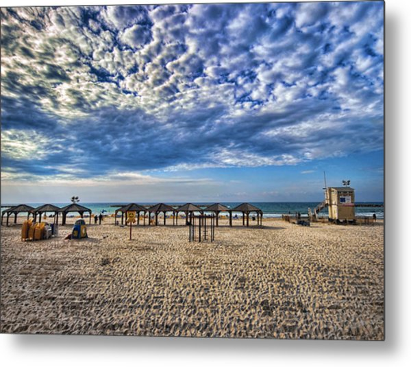 Metal Print featuring the photograph a good morning from Jerusalem beach  by Ron Shoshani