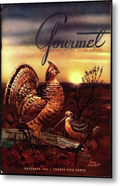 A Gourmet Cover Of A Turkey Metal Print