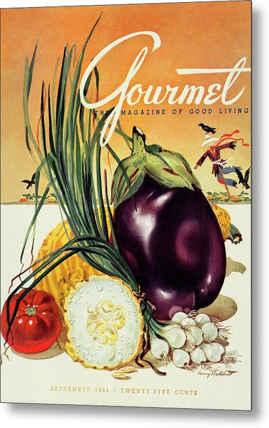 A Gourmet Cover Of Vegetables Metal Print