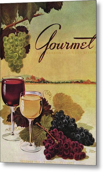 A Gourmet Cover Of Wine Metal Print