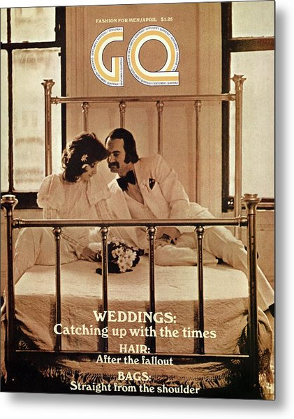 A Gq Cover Of A Bridal Couple Metal Print