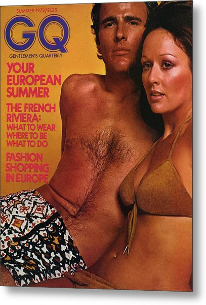 A Gq Cover Of A Couple In Bathing Suits Metal Print