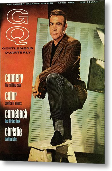 A Gq Cover Of Sean Connery Metal Print
