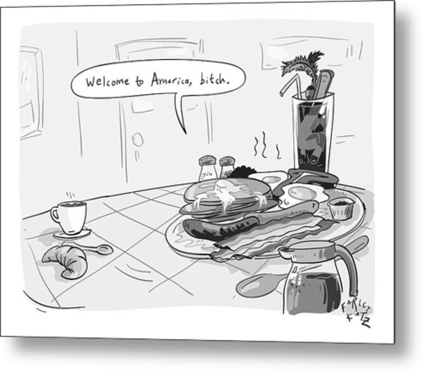 A Greasy Plate Of Pancakes Metal Print
