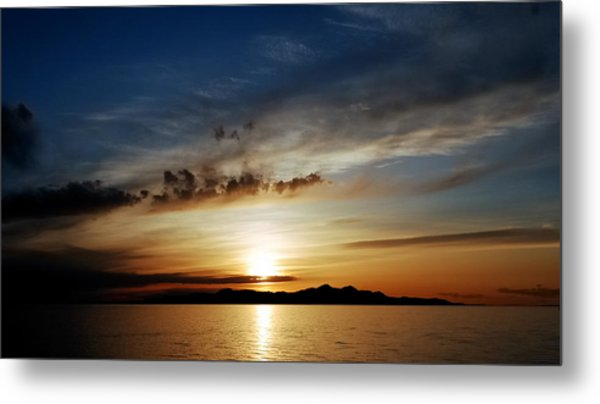 A Great Salt Lake Sunset Metal Print