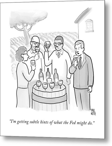 A Group Sample Wine At A Wine Tasting Vineyard Metal Print