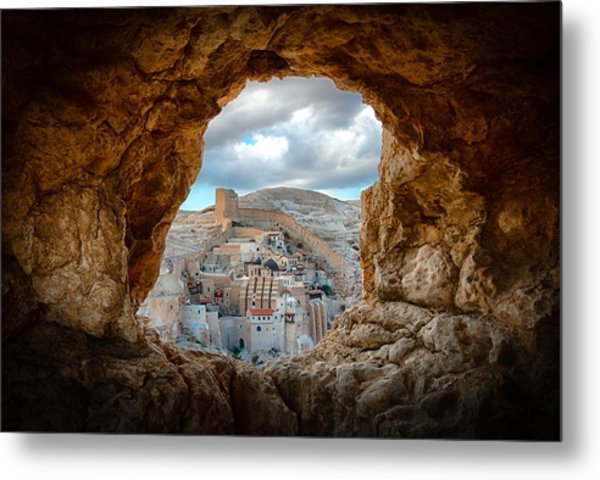 A Hole In The Wall Metal Print