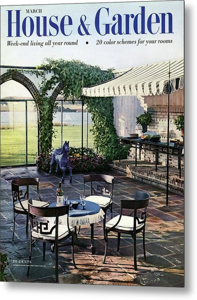 A House And Garden Cover Of A Terrace In East Metal Print