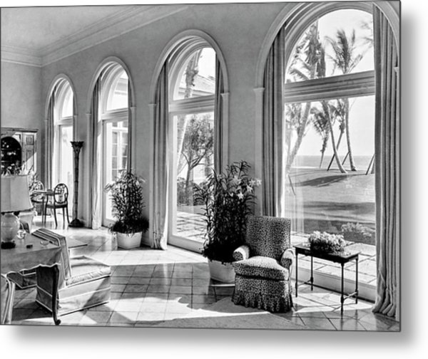A House In Palm Beach Metal Print