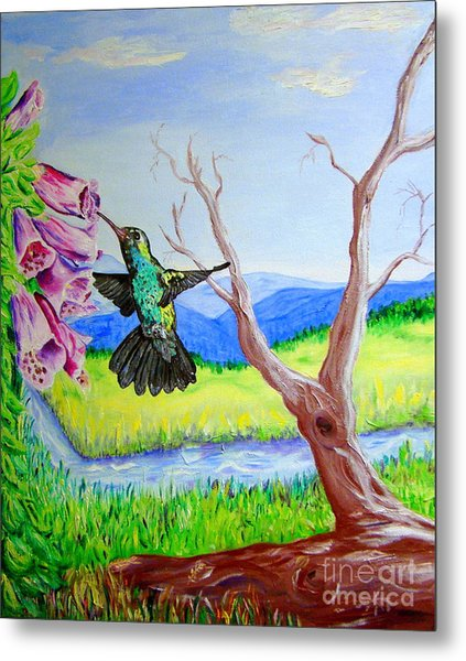 A Hummingbirds Day Metal Print