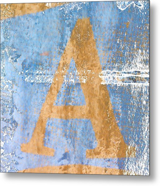 A In Blue Metal Print