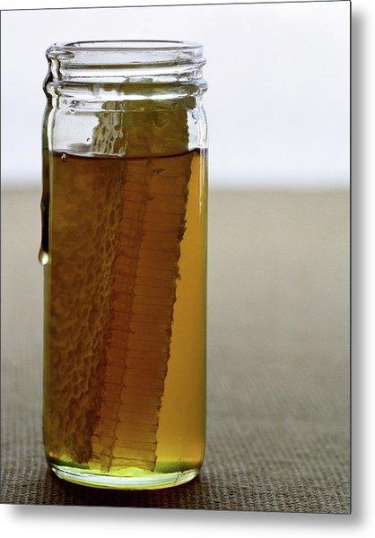 A Jar Of Honey Metal Print