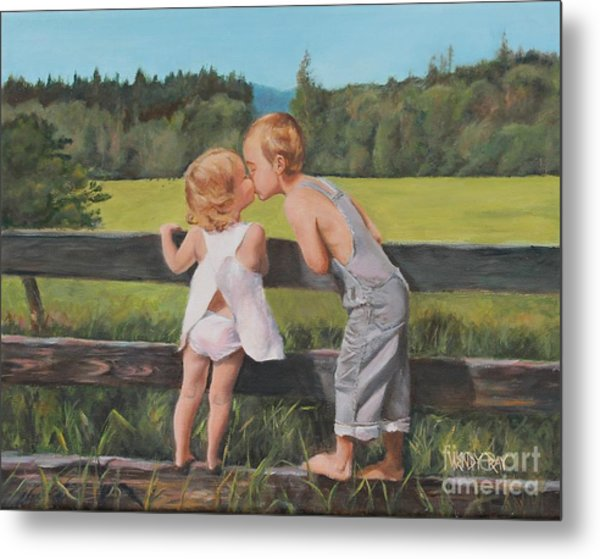 A Kiss For Little Sister Metal Print