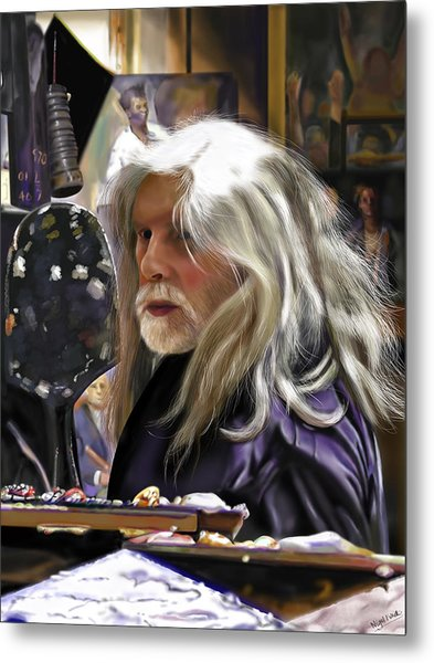 A Life Of Colour - Robert Lenkiewicz -1941 - 2002 Metal Print