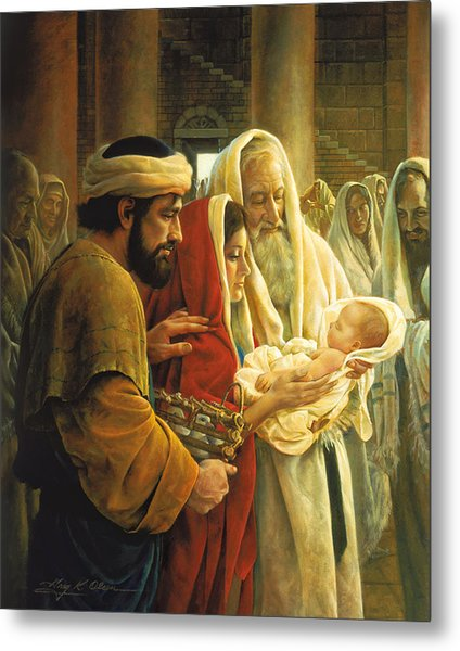 Metal Print featuring the painting A Light To The Gentiles by Greg Olsen