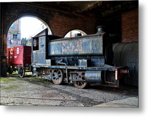 A Locomotive At The Colliery Metal Print