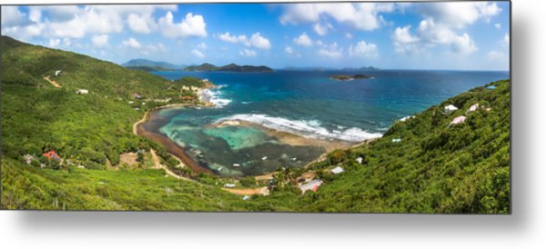 John's Folly Bay From Tradewinds Cottage In St. John Usvi Metal Print