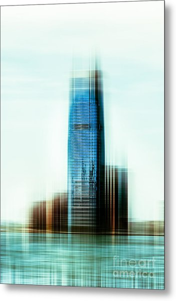 A Look To New Jersey II - Steel Metal Print
