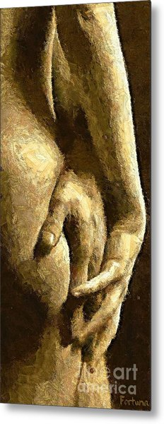 A Love Touch Metal Print