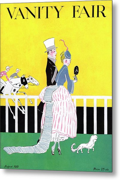A Magazine Cover For Vanity Fair Of A Couple Metal Print by Ethel Plummer