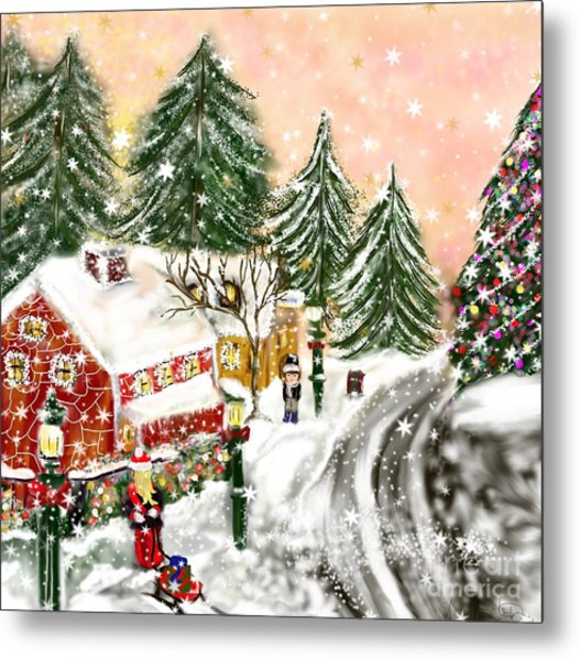 A Magical Frost Metal Print