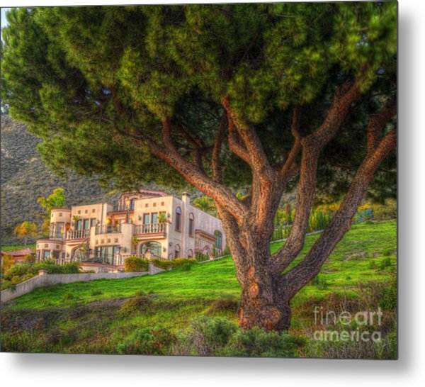 A Man's Home Is His Castle Metal Print