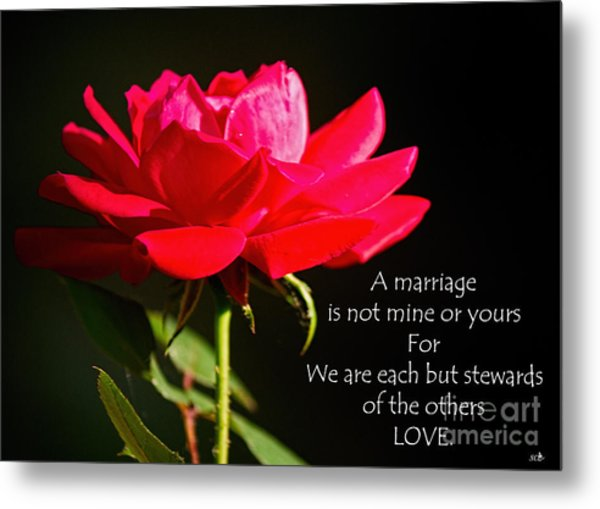 A Marriage Metal Print