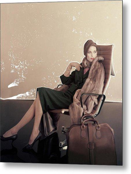 A Model In An Eames Chair Metal Print