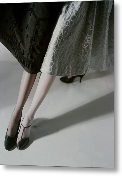 A Model Wearing Artcraft Stockings Metal Print by Horst P. Horst