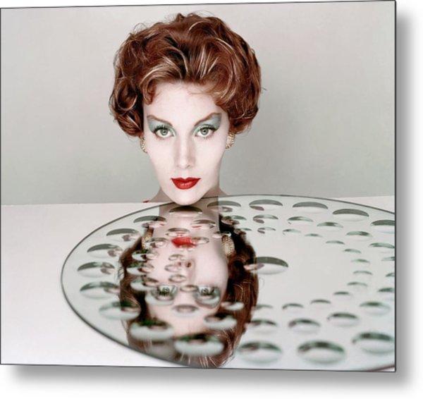 A Model Wearing Clairol Hair Dye Metal Print by Richard Rutledge