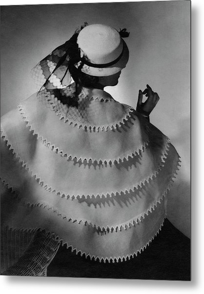 A Model Wearing Lanvin Metal Print by Horst P. Horst
