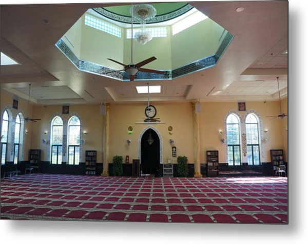 A Mosque Interior Metal Print