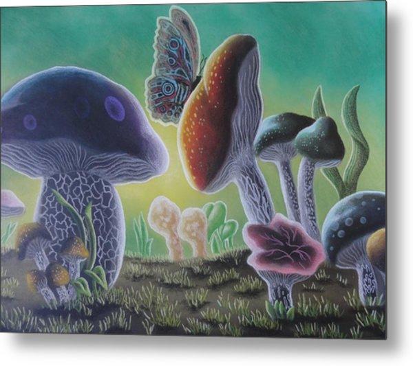A Mushroom Kingdom Metal Print