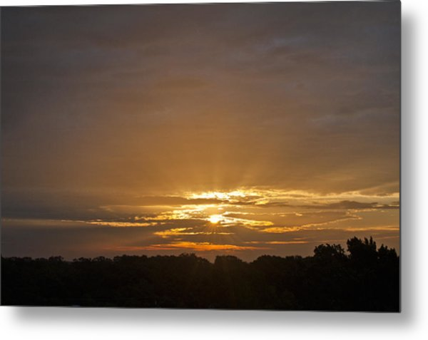 A New Day - Sunrise In Texas Metal Print