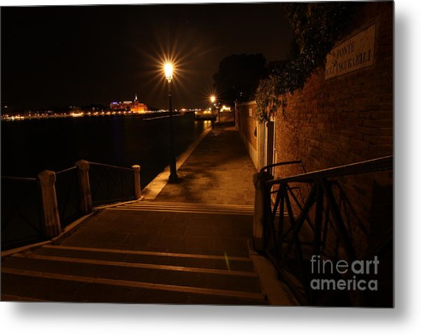 A Night Walk In Venice Metal Print