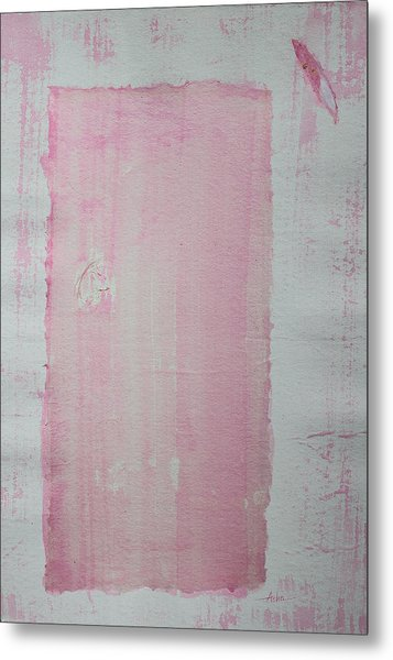 A Paler Shade Of Pink Metal Print
