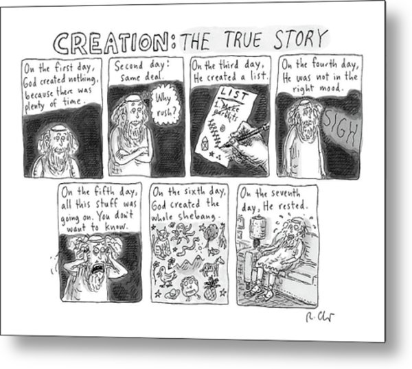 A Panel Called Creation: The True Story Which Metal Print