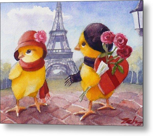 A Paris Valentine Metal Print