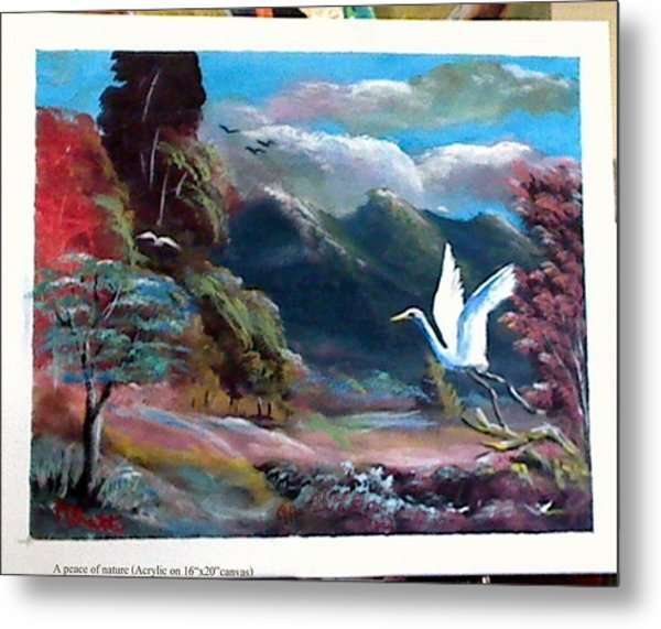 A Peace Of Nature Metal Print by M bhatt