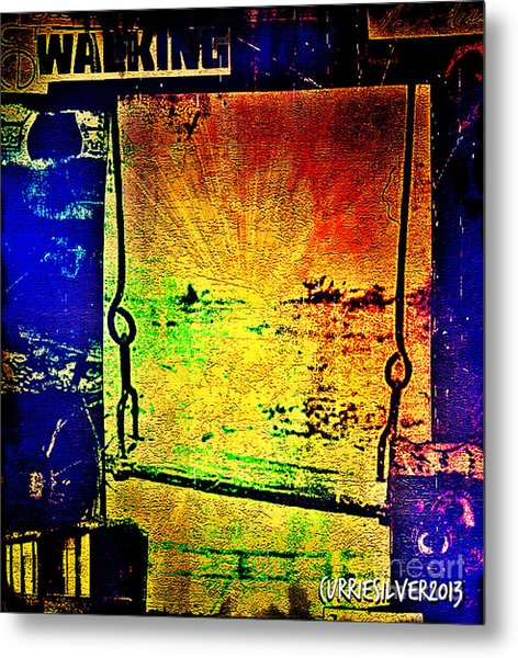 A Peace Of Sky Metal Print by Currie Silver