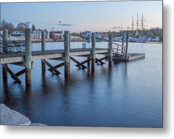 A Peaceful Dock -  Mystic Ct Metal Print