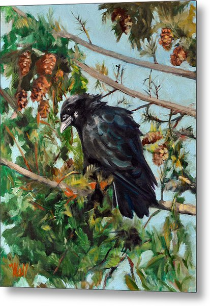A Perch For Nevermore Metal Print