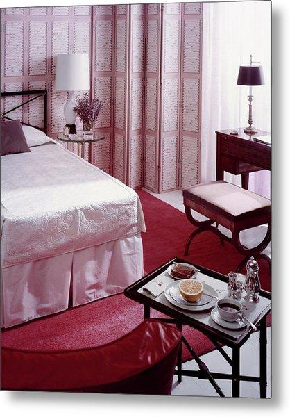 A Pink Bedroom Metal Print