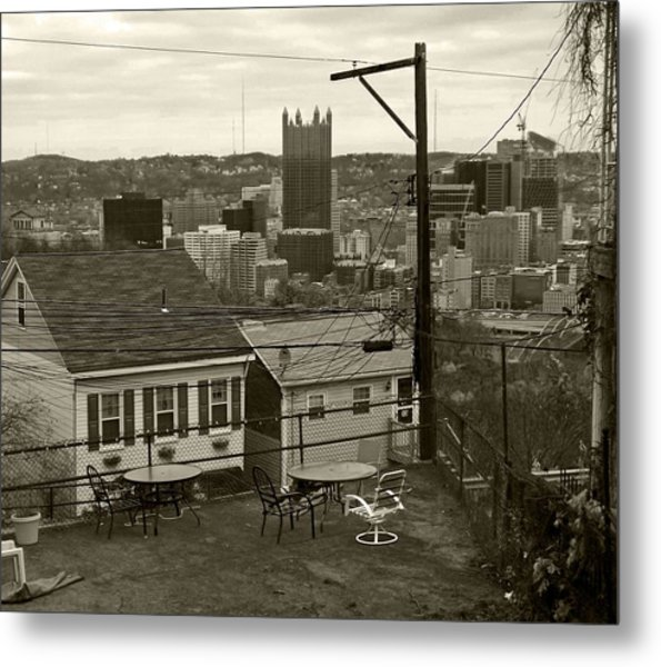 A Pittsburgh Backyard Metal Print