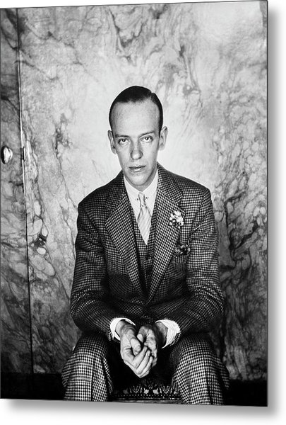 A Portrait Of Fred Astaire Sitting Metal Print by Cecil Beaton