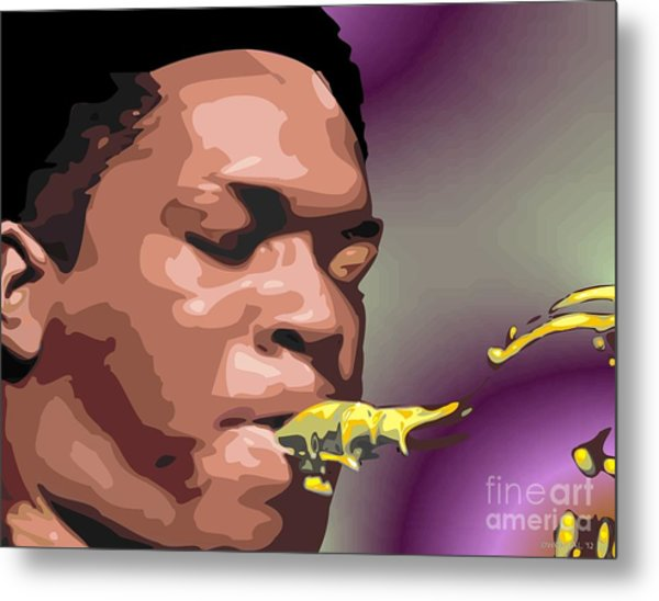 A Portrait Of John Coltrane Metal Print