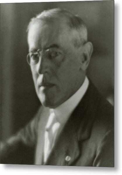 A Portrait Of Woodrow Wilson Metal Print by Arnold Genthe