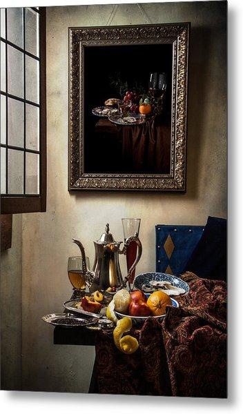 A Pronkstilleven From Vermeer To Kalf Metal Print