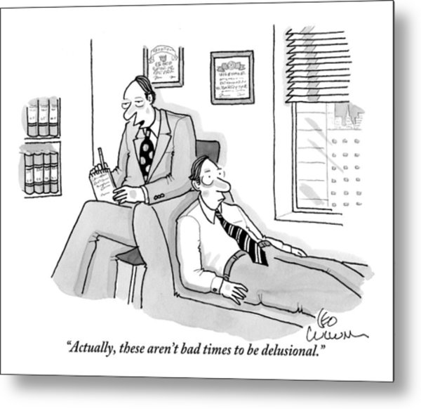 A Psychiatrist Is Speaking With A Patient Metal Print